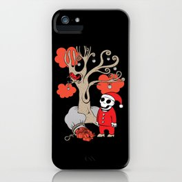 SANTA'S RED BIRD iPhone Case
