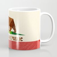 flag Mugs featuring California by Fimbis