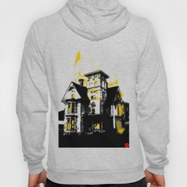 HelloHorror Issue 3 Cover Detail - haunted house Hoody