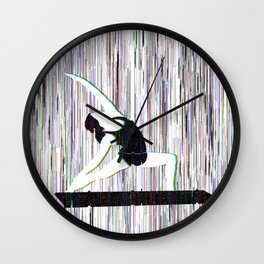 Yoga Glitch Wall Clock