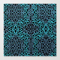 celtic Canvas Prints featuring celtic blue by Ariadne