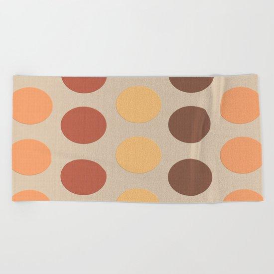 Autumn Polka Dots Beach Towel