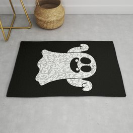 Ghost With Arabic Calligraphy Gift for Ghost Lover Rug