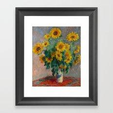 Monet - Bouquet of Sunflowers, 1881 Framed Art Print