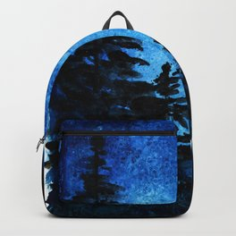 Blue Sky - Evergreen Trees Backpack