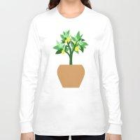 lemon Long Sleeve T-shirts featuring Lemon by Little Lost Garden