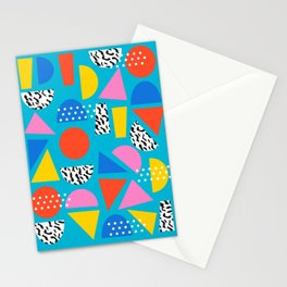 Airhead - memphis retro throwback minimal geometric colorful pattern 80s style 1980's Stationery Cards