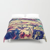 dc comics Duvet Covers featuring Comics by Miss-Lys