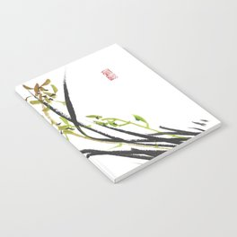 Green Wild Orchid Two Notebook