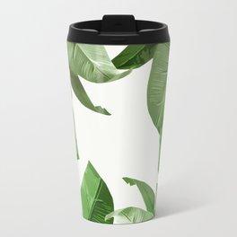 Tropical Palm Print Treetop Greenery Travel Mug