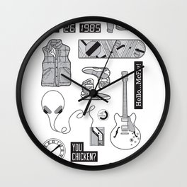McFly Icons - Back to the Future Wall Clock