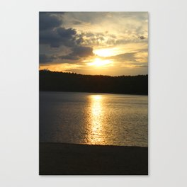 Sunset at Concord's Walden Pond 11 Canvas Print