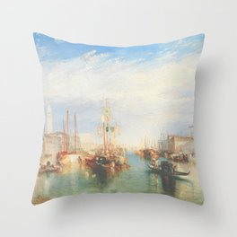 Venice from the Porch of Madonna della Salute by Joseph Mallord William Turner ca. 1835, British Throw Pillow