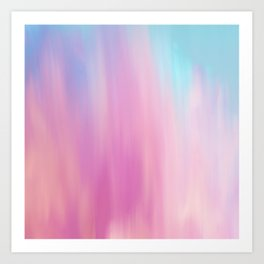 Abstract teal pink watercolor artistic brushstrokes Art Print