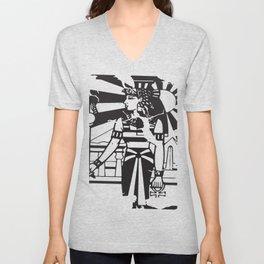 Egyptian Ankh Woman Ancient History Empire Cleopatra Illuminati T-Shirts Unisex V-Neck