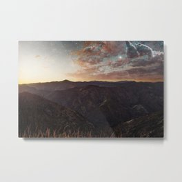Sundown Yosemite Metal Print