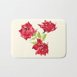 Three Red Roses Bath Mat