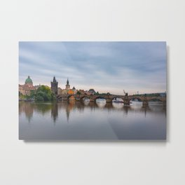 Charles Bridge, Prague, Czech Republic Metal Print