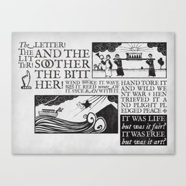 the letter! the litter! Canvas Print