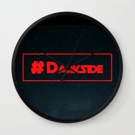 #Darkside Hashtag Text | Fan Art Graphics Design Wall Clock