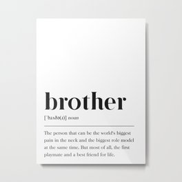 Brother Definition Metal Print