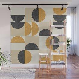 Mid century modern halfmoon pattern Wall Mural