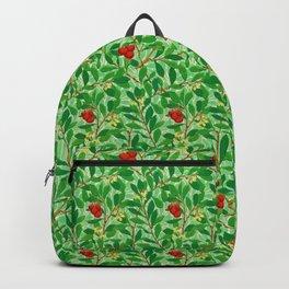 William Morris Lychee Tree Pattern, Light Jade Green Backpack