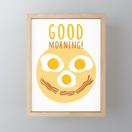 Good morning print Framed Mini Art Print