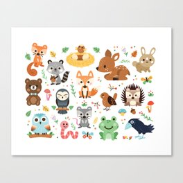 Woodland Animal Canvas Print
