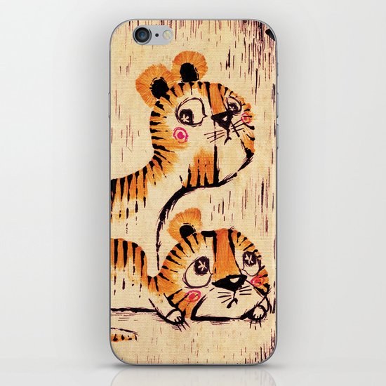 Two Little Tigers iPhone & iPod Skin