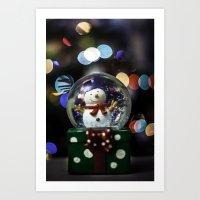 snow sphere Art Print