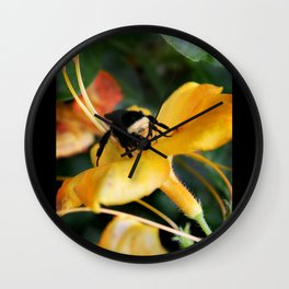Honey Bee and Tiger Lily Wall Clock