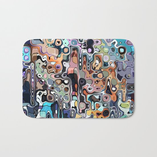 Abstract Digital Doodle 2 Bath Mat