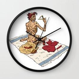 Pin up Zombie 03 Wall Clock