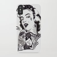 marylin monroe iPhone & iPod Cases featuring Marylin Monroe by Kreatywny