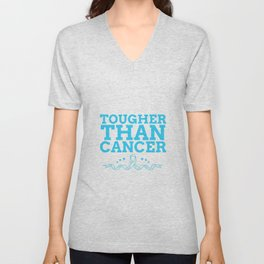 quote in support of cancer survivors Unisex V-Neck