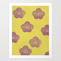 sakura Art Prints featuring Sakura by sinonelineman