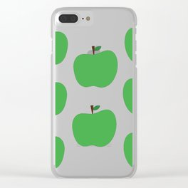 Green Apples Clear iPhone Case