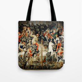 Slaying Of The Unicorn Medieval Tapestry Tote Bag
