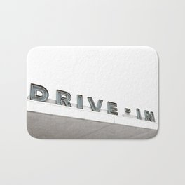 Drive In Old Vintage Sign Bath Mat
