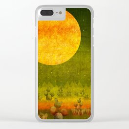 """Green Lemon Sunset"" Clear iPhone Case"