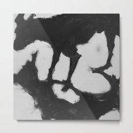 Shadow - Black & White Metal Print