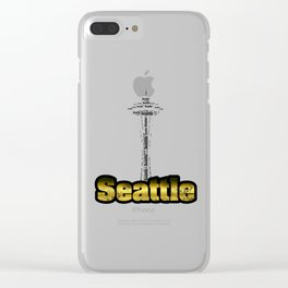 Seattle - Space Needle Clear iPhone Case