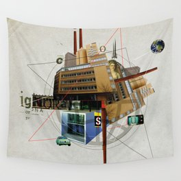 Collage City Mix 1 Wall Tapestry