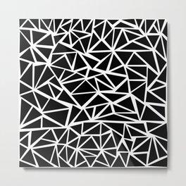 Mozaic Triangle Black Metal Print