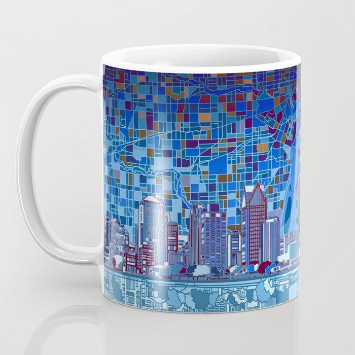 detroit city skyline Coffee Mug