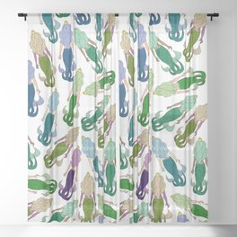 Mermaid Party Sheer Curtain