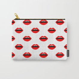 Lips minimal pattern cute gift for valentines day love lipstick Carry-All Pouch