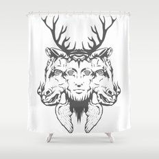 GOD II Shower Curtain