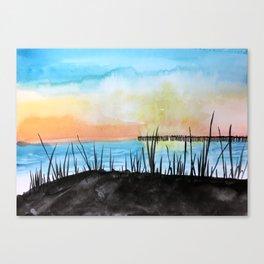 Oak Island at Sunset Canvas Print